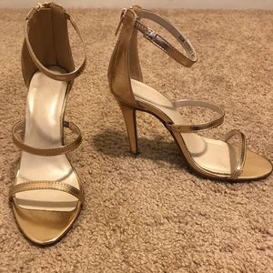 Rose gold strappy heels size 8.5